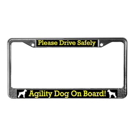 Giant Schnauzer Agility Dog License Plate Frame