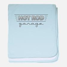 Hot Rod Garage baby blanket