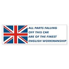 British Car Bumper Car Sticker