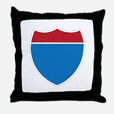 Interstate Sign Throw Pillow