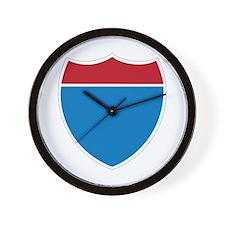 Interstate Sign Wall Clock