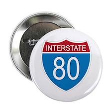 "Interstate 80 2.25"" Button (10 pack)"