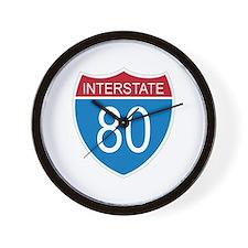 Interstate 80 Wall Clock