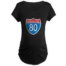 Interstate 80 Maternity T-Shirt