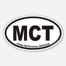 Camp McTureous Okinawa MCT Euro Oval Decal
