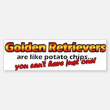 Potato Chips Golden Retriever Bumper Bumper Bumper Sticker
