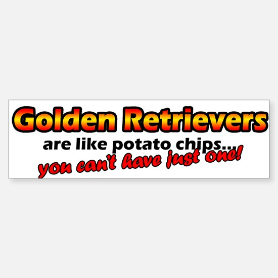 Potato Chips Golden Retriever Bumper Bumper Bumper Sticker