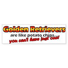 Potato Chips Golden Retriever Bumper Bumper Sticker