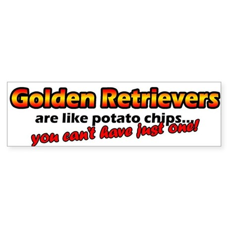 Potato Chips Golden Retriever Bumper Sticker