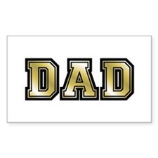 Dad is Golden Fathers Day Rectangle Decal