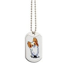 Red Sable Papillon Dog Tags