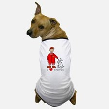 I Heart Firemen Dog T-Shirt