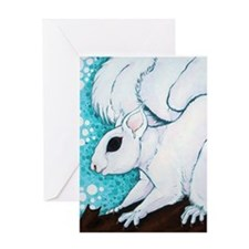 White Squirrel Greeting Cards