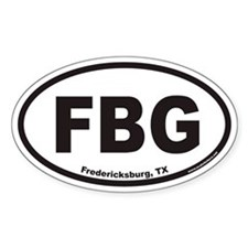 Fredericksburg Texas FBG Euro Oval Decal