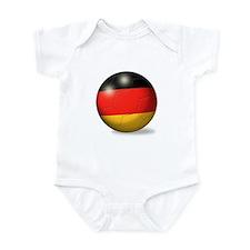 German Flag Soccer Ball Infant Bodysuit