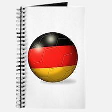 German Flag Soccer Ball Journal