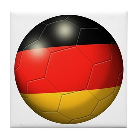 German Flag Soccer Ball Tile Coaster