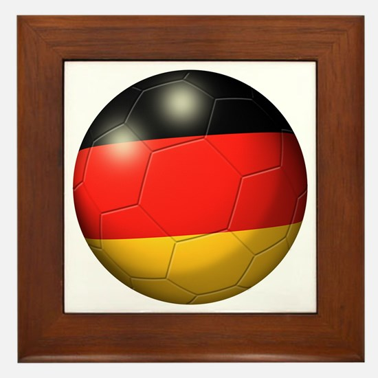 German Flag Soccer Ball Framed Tile