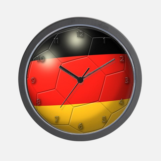 German Flag Soccer Ball Wall Clock