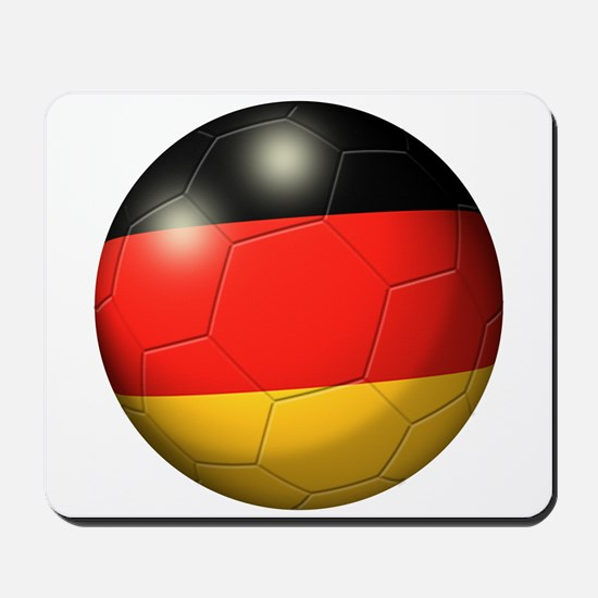 German Flag Soccer Ball Mousepad