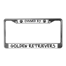 Owned by Golden Retrievers License Plate Frame