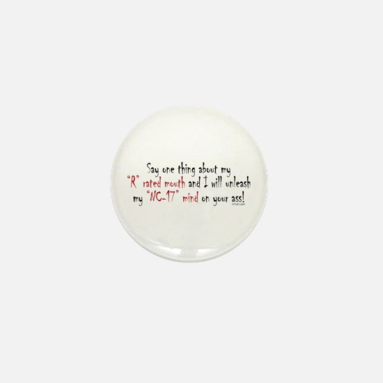 R-Rated Mouth Mini Button