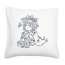 A little Druid Square Canvas Pillow
