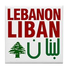 Lebanon Liban Libnan | Tile Coaster