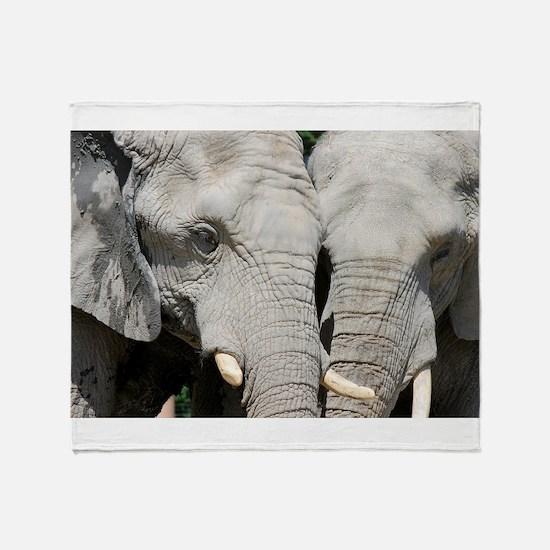 Funny Elephant photo Throw Blanket