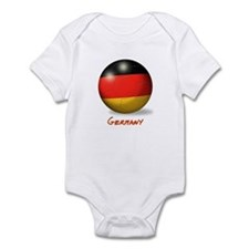 Germany Flag Soccer Ball Infant Bodysuit