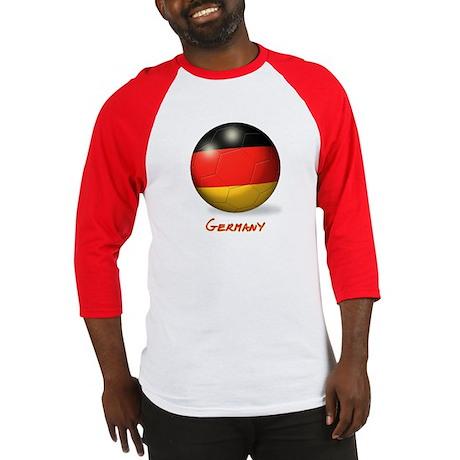 Germany Flag Soccer Ball Baseball Jersey