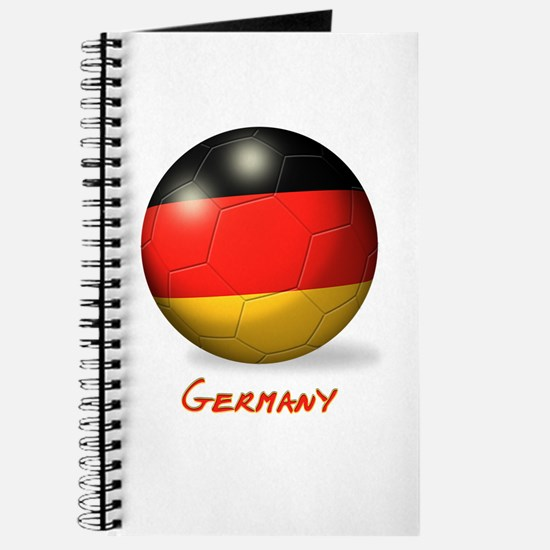 Germany Flag Soccer Ball Journal