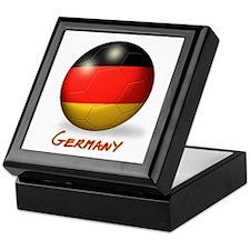 Germany Flag Soccer Ball Keepsake Box