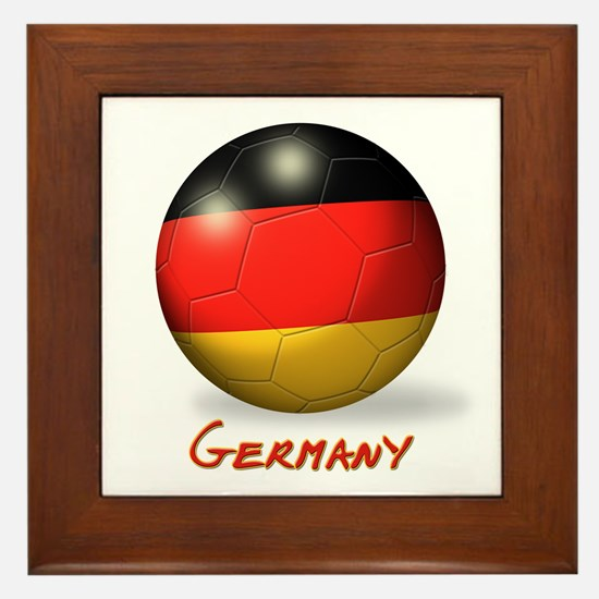 Germany Flag Soccer Ball Framed Tile