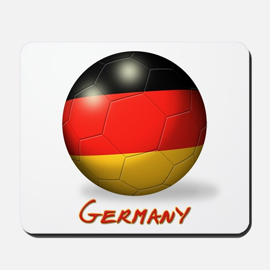 Germany Flag Soccer Ball Mousepad