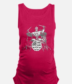 abraham lincoln playing drums Maternity Tank Top