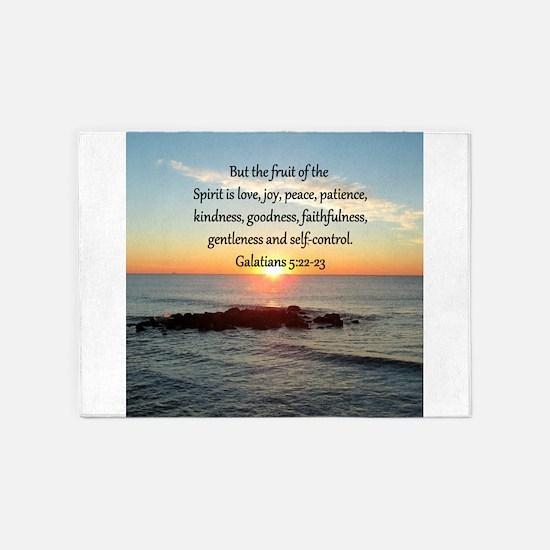 GALATIANS 5:22 5'x7'Area Rug