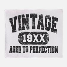 Personalize Vintage Aged To Perfection Throw Blank