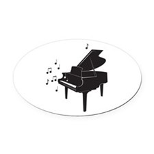 Grand Piano Oval Car Magnet