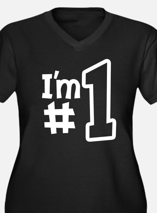 i'm number o Women's Plus Size V-Neck Dark T-Shirt