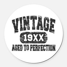 Personalize Vintage Aged To Perfection Round Car M
