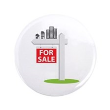 """For Sale 3.5"""" Button"""