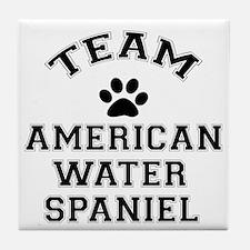 Team Water Spaniel Tile Coaster