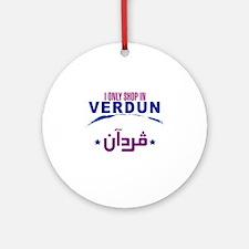 Shopping in Verdun | Ornament (Round)