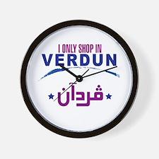 Shopping in Verdun   Wall Clock