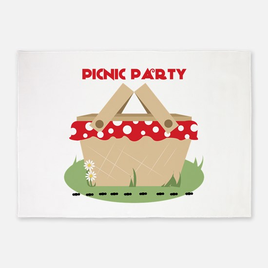 Picnic Party 5'x7'Area Rug