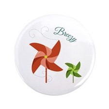 "Breezy Pinwheel 3.5"" Button"