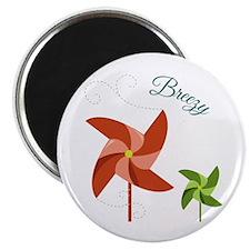 Breezy Pinwheel Magnets