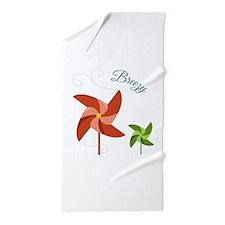 Breezy Pinwheel Beach Towel