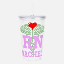 Personalized RN heart caduceus Acrylic Double-wall